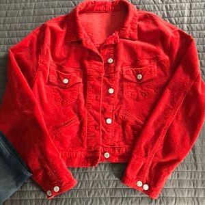 John Galt California ❤️ Red Corduroy Jacket